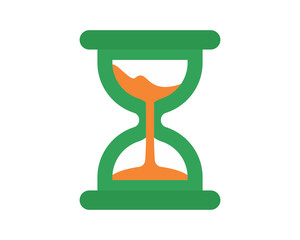 green hourglass icon image vector icon logo symbol