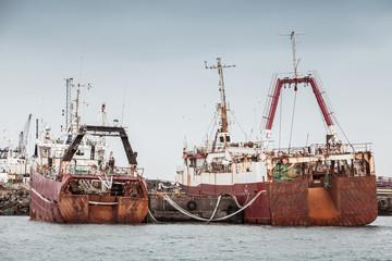 Fishing boats in port of Reykjavik, Iceland