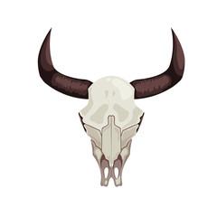 Cow skull icon