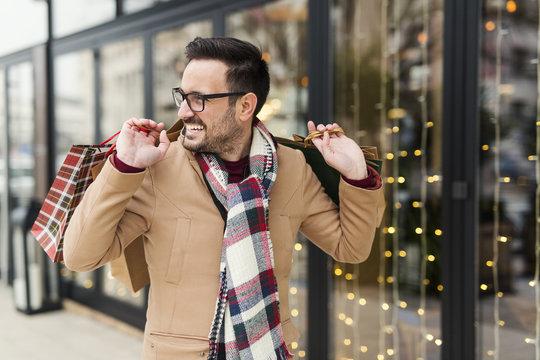Man at shopping
