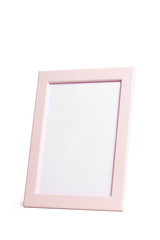 Blank picture frame on white