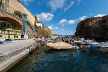 Port in the Framura village (Porto Pidocchio), La Spezia, Liguria, Italy