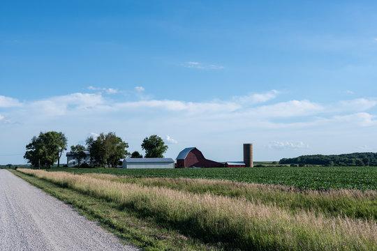 Traditional midwestern farm