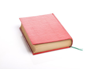 vintage book closeup isolated white.
