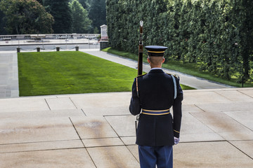Changing of the guard Arlington Tomb of the unknown soldier
