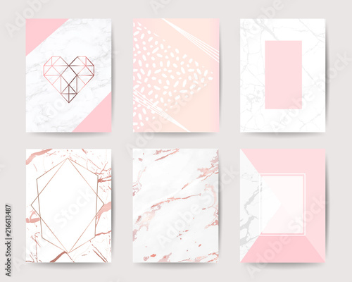 Marble Background Vector Collection Design For Wedding