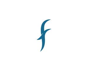 F Letter Logo Template vector icon
