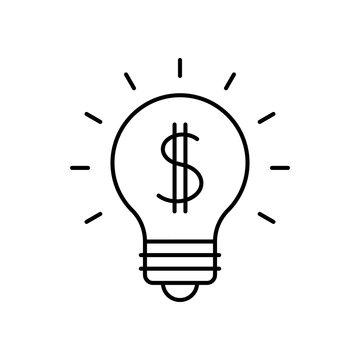 Lightbulb with dollar symbol