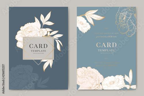 Wedding Invitation Floral Invite Thank You Rsvp Modern