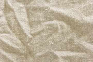 Natural gray textile background with visible details. Old linen texture.