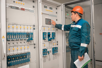 Electricians at the substation