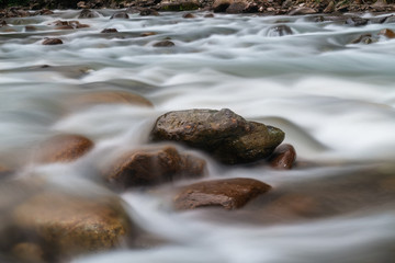 Long exposure of rapids along the River.Rize,Turkey