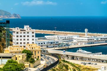 Port of Oran, a coastal city in Algeria