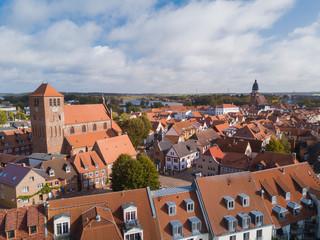 Blick über die Altstadt von Waren an der Müritz