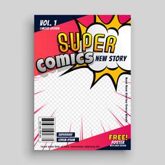 comic book cover design template