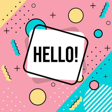 Hello! Banner. Shapes.