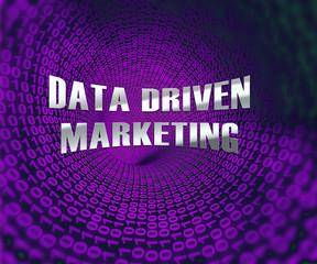Data Driven Marketing Database Analytics 3d Illustration