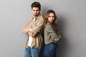 Portrait of an upset young couple having an argument