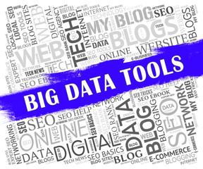 Big Data Tools Digital Toolbox 2d Illustration