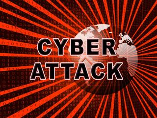 Cyberattack Malicious Cyber Hack Attack 3d Illustration