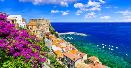 Beautiful coastal town Scilla in Calabria. Italy Wall mural