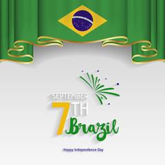 Brazil Independence Day. September 7, Independence day of Brazil vector (Independência).