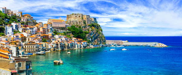 Deurstickers Mediterraans Europa beautiful beaches and towns of Calabria - Scilla. Italian summmer holidays.