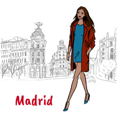 Woman in Madrid