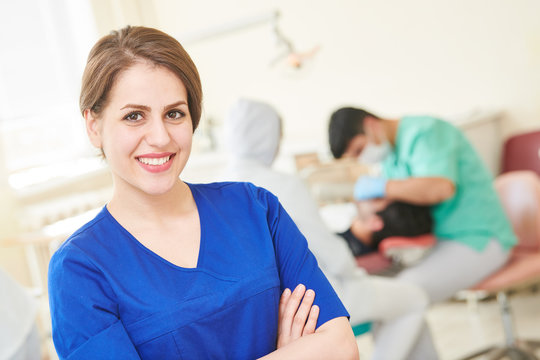 dentist female doctor. dentistry medicine
