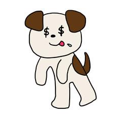 金の亡者の犬