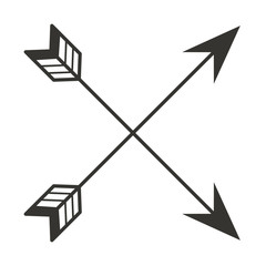 ethnicity arrows crossed icon vector illustration design