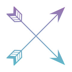 ethnicity arrows crossed icon vector illustration design