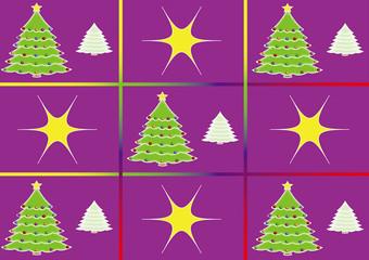 Purple Cartoon Christmas Theme.