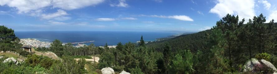 Burela. Galicia. Spain. Panoramic. Mirador Monte Castelo