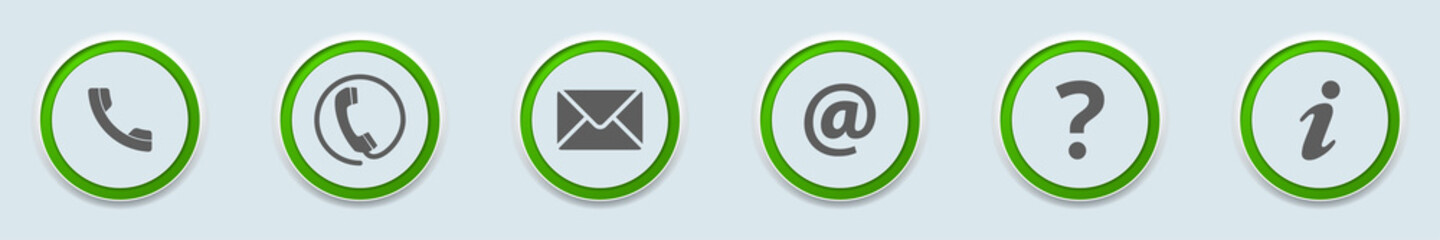 Contact us Icons Buttons illustration