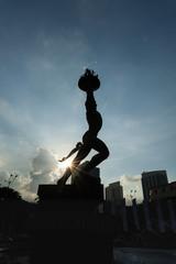 Youth generation spirit statue view: Jakarta, Indonesia - 11 June 2010