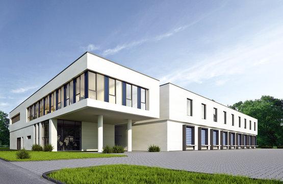 Logistikgebäude 1 weiss