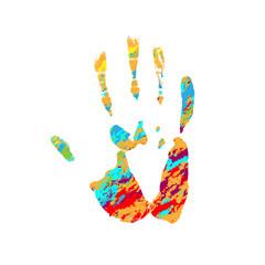 Hand grunge silhouette