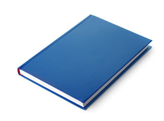 Blue hardcover book
