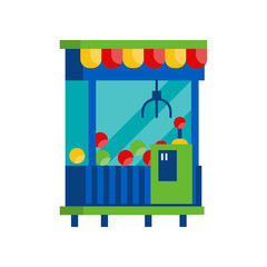 Claw crane game machine, arcade game vending machine vector Illustration on a white background