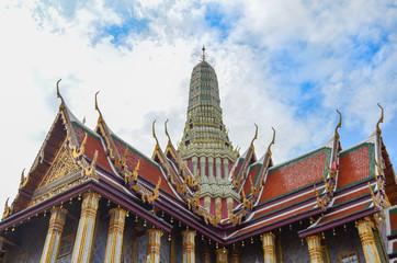 Bangkok, Thailand-August 13, 2016: Wat Phra Kaew temple