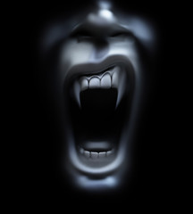 vampire screaming
