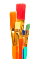 Fototapete - colored brushes for watercolor isolated