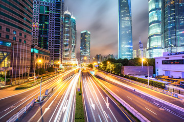 busy traffic road in urban