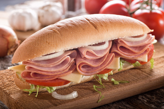 Submarine Hoagie Sandwich