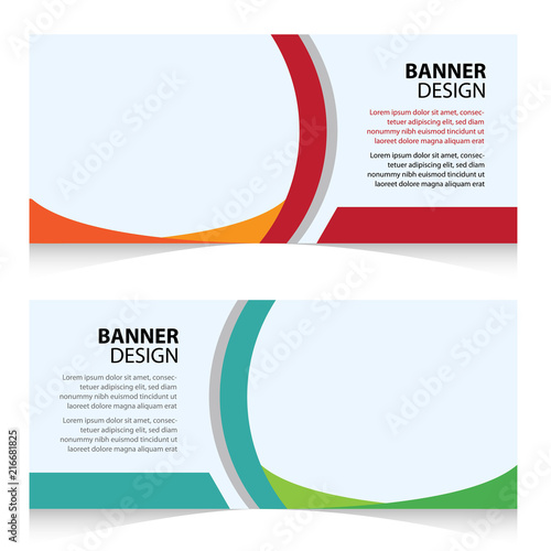 Web Banner Campaign Design Template Stock Image And Royalty Free