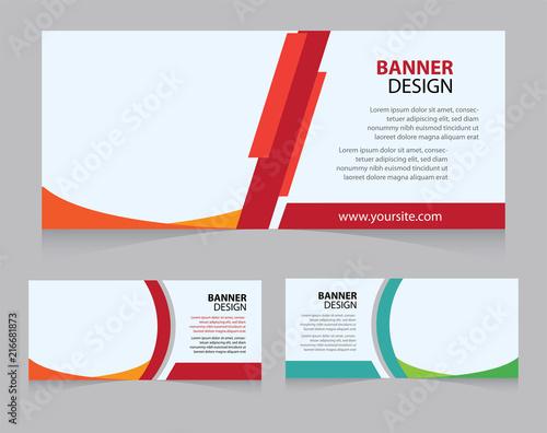 Web Banner Campaign Design Template Fichier Vectoriel Libre De
