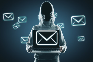Email and hacking concept