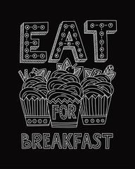 Eat dessert for breakfast