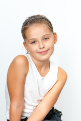 Portrait of a beautiful Isolated young girl